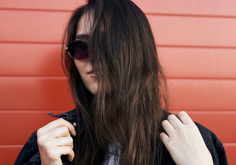 Strähnen mit schwarze haare lange Kurze Schwarze