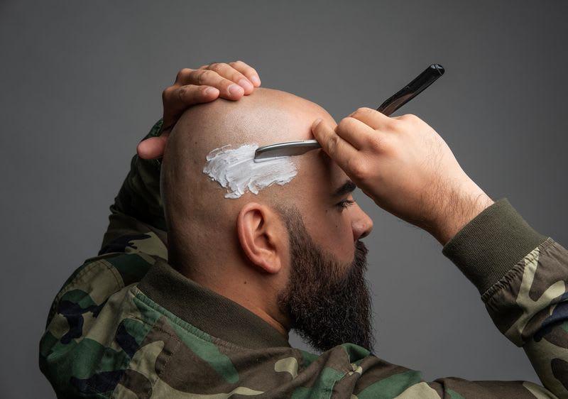 Glatze eine richtige für kopfform Halb Mensch,