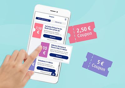 Online bestellen & Vorteilscoupon für den nächsten dm-Einkauf erhalten