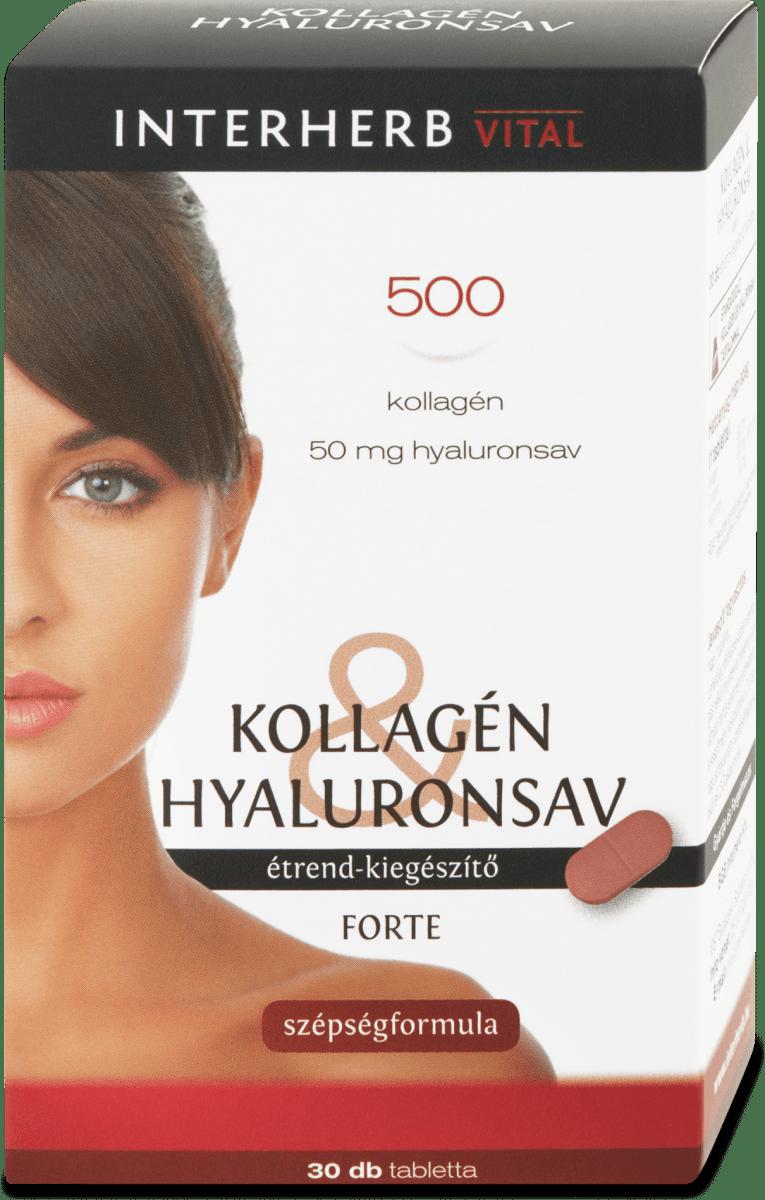 Kollagén és Hialuronsav - 30 db - TÁPLÁLÉKKIEGÉSZÍTŐK