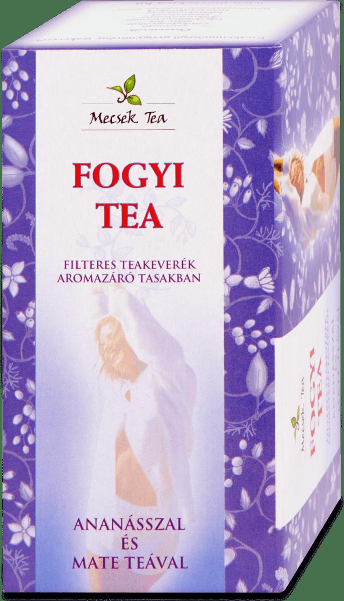 fogyi tea hatásos 1000 kalóriás étrend