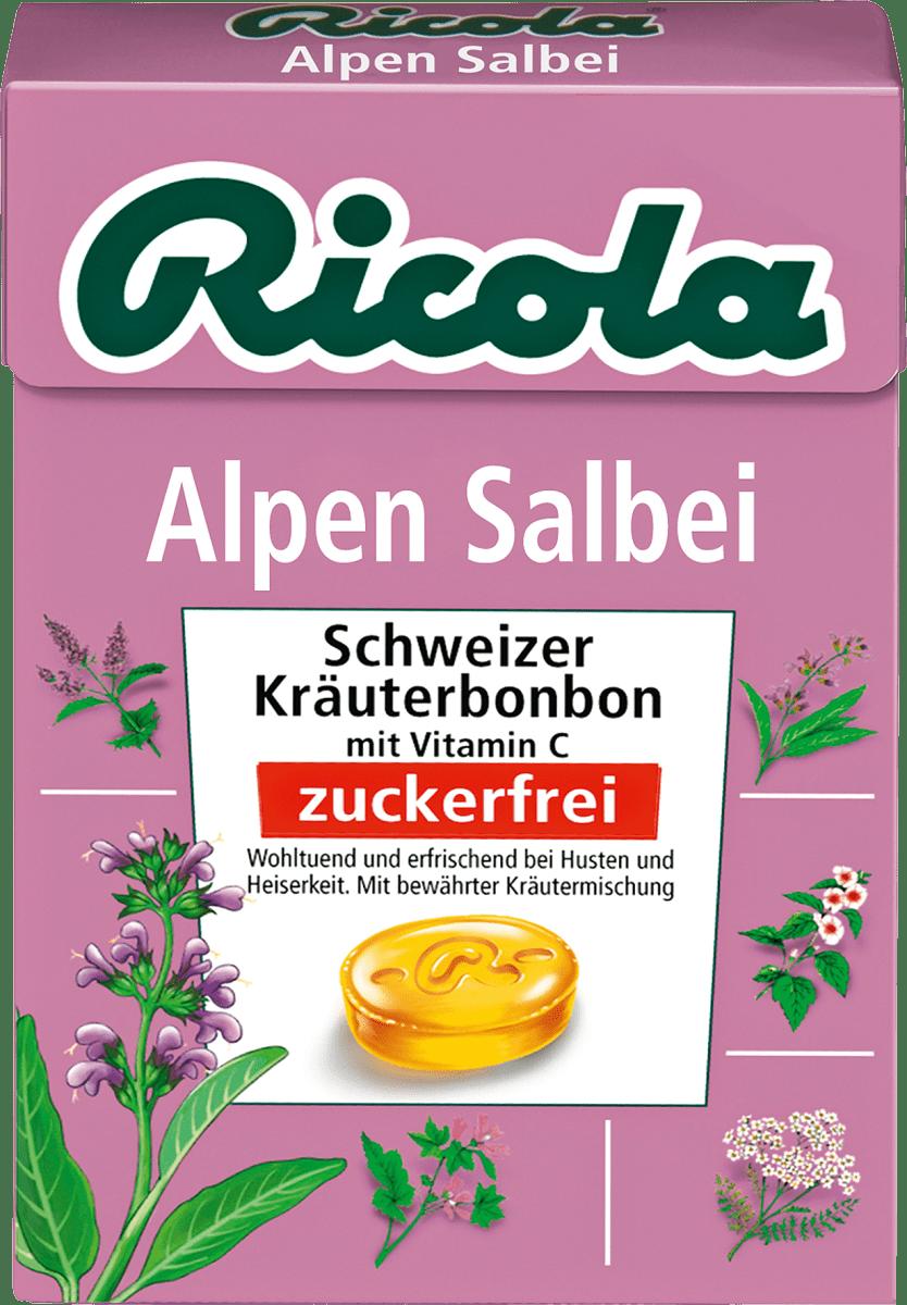 Ricola Bonbon, Alpen Salbei, zuckerfrei, in der Taschenbox