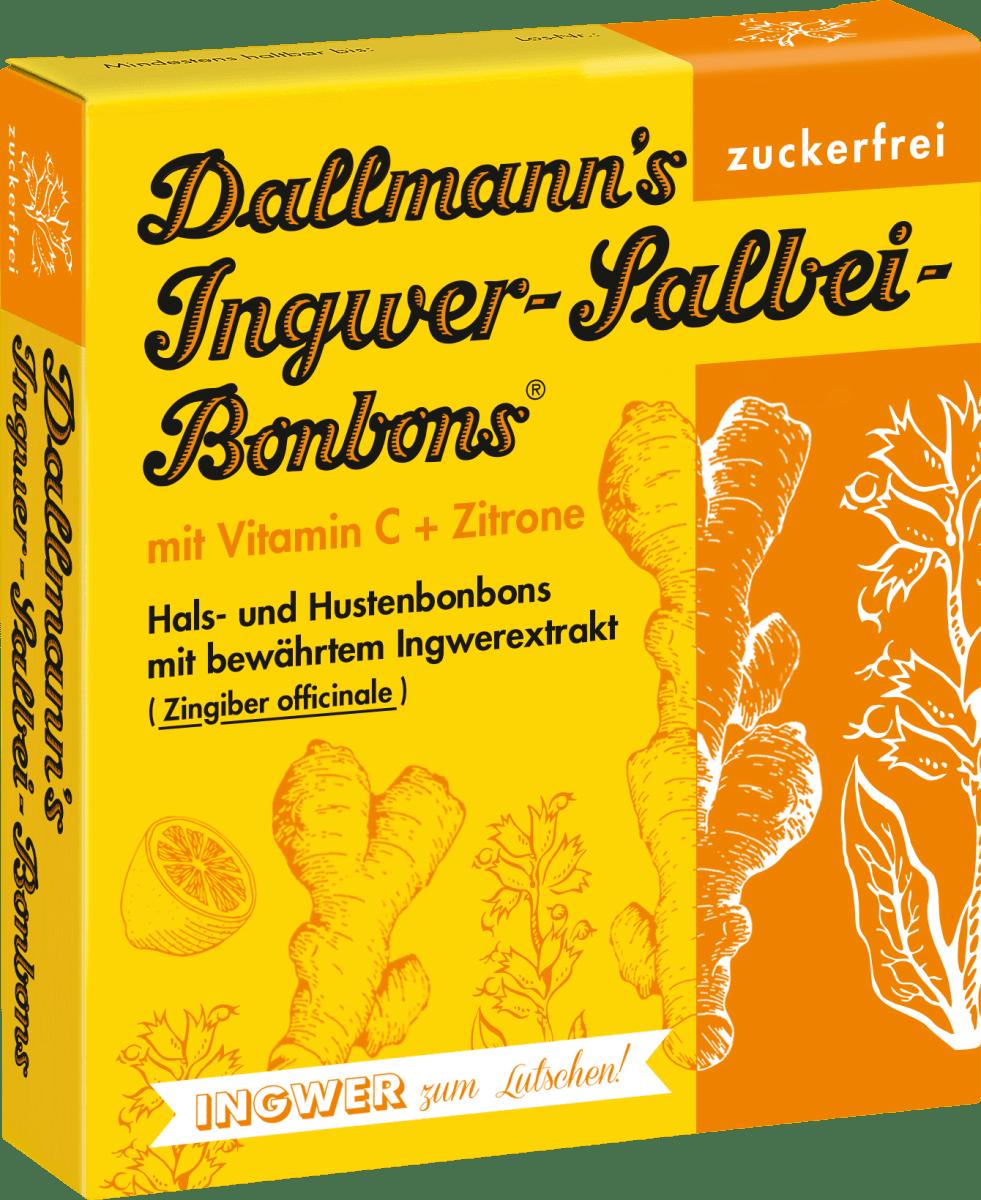 Dallmanns Ingwer-Salbei-Bonbons, zuckerfrei, 37 g