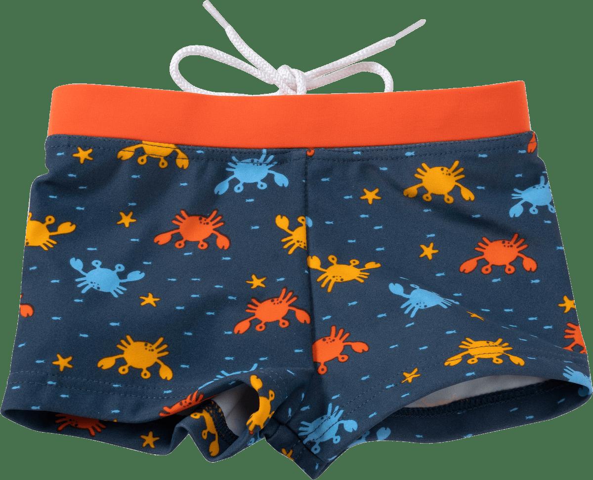 Kinder Badehose, Gr. 74, blau, orange, 1 St