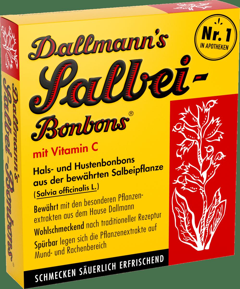 Salbei-Bonbons Hals- und Hustenbonbons mit Vitamin C (20 Stück), 37 g
