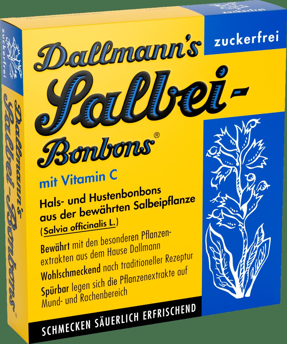 Salbei-Bonbons zuckerfreie Hals- und Hustenbonbons (20 Stück), 37 g