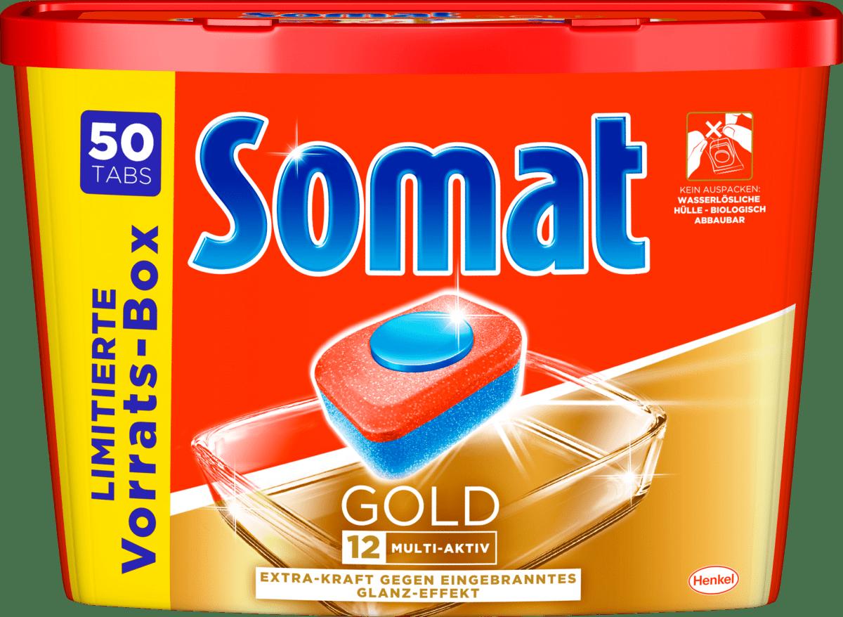 somat spülmaschinentabs gold xxl 50 st dauerhaft günstig
