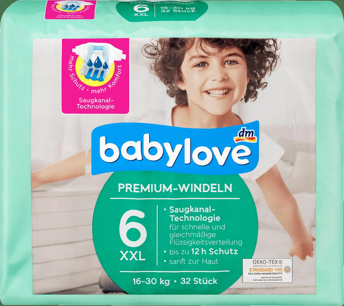 babylove windeln premium größe 6 xxl 1630kg 32 st