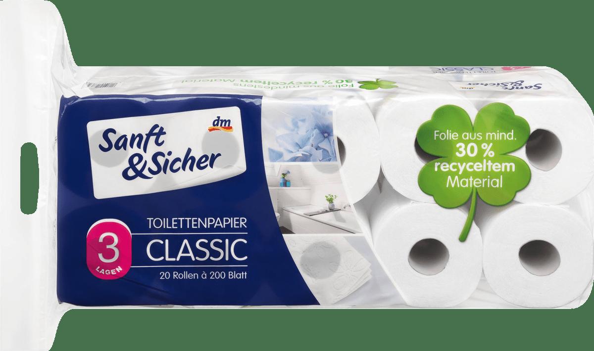 sanftsicher toilettenpapier classic xxl 3lagig 20x200