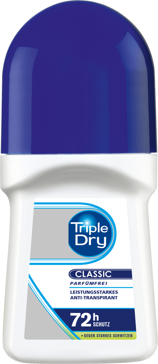 Triple Dry Deo Roll On Antitranspirant bis zu 72h, 50 ml