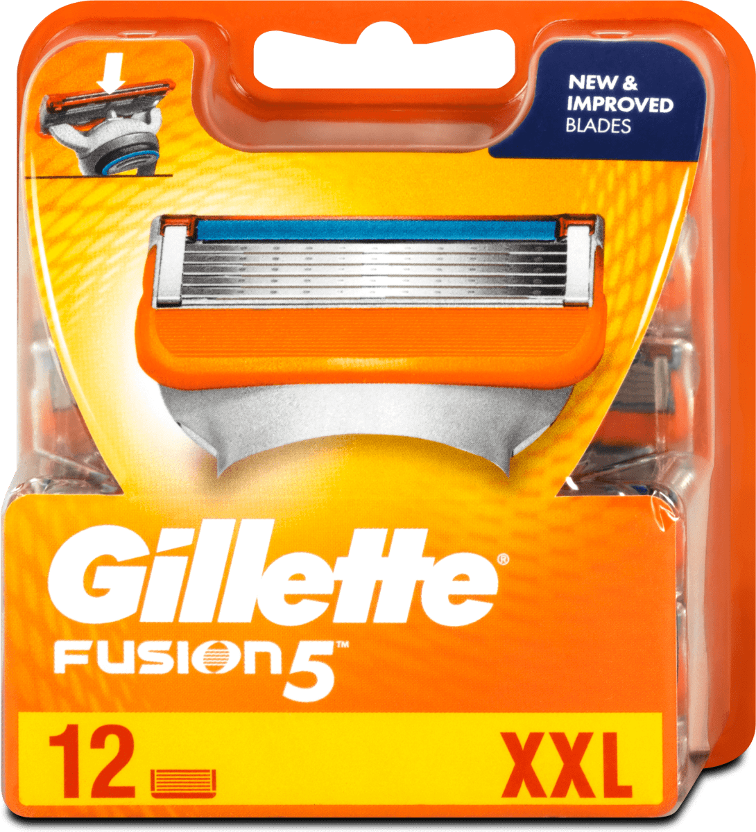 gillette fusion5 rasierklingen vorteilspack xxl 12 st  dmat