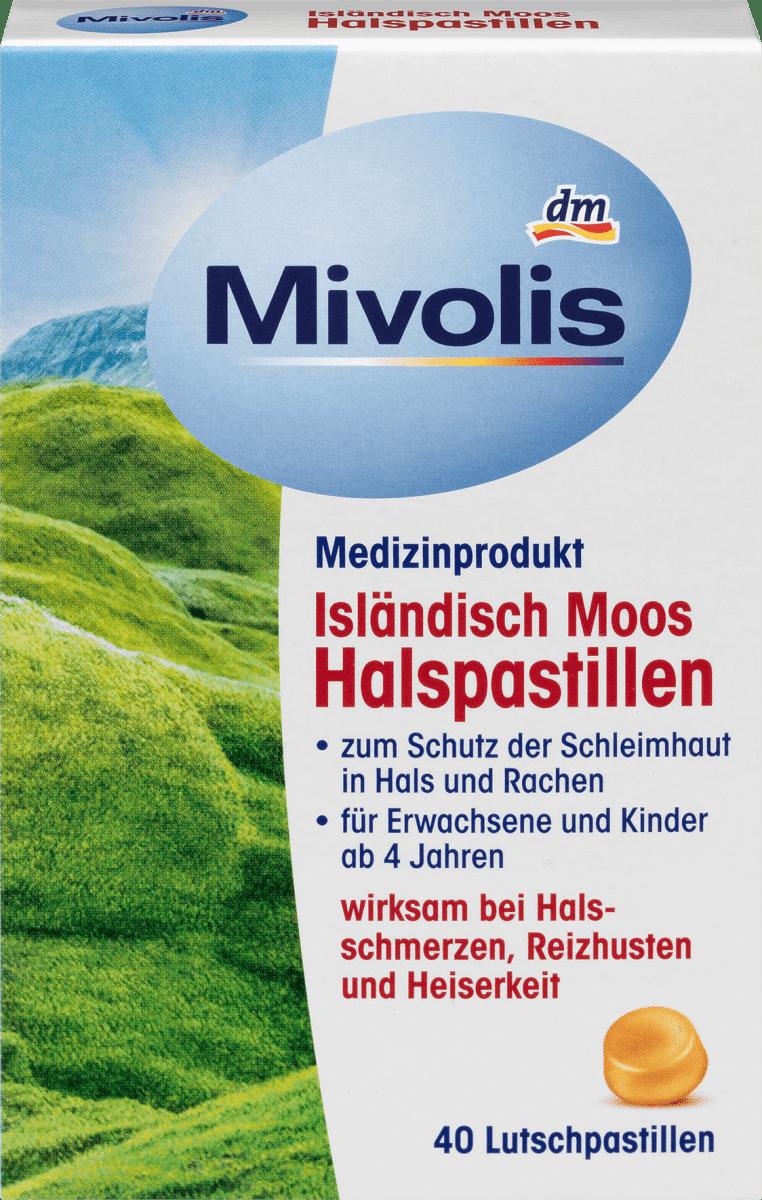 Isländisch Moos Halspastillen, 40 St