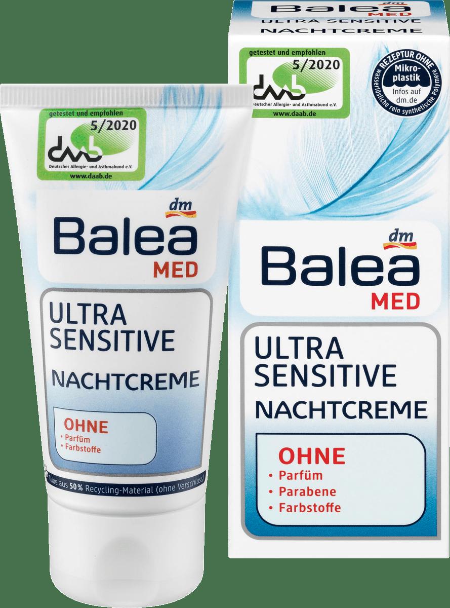 Balea MED Nachtrcreme Ultra Sensitive, 50 ml dauerhaft