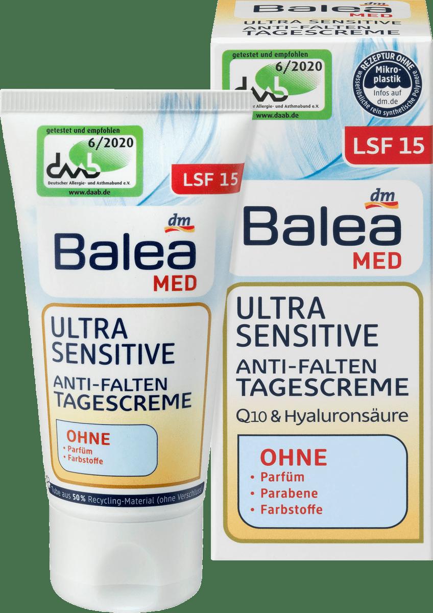 Balea MED Tagescreme Anti-Falten Ultra Sensitive Q10 LSF15