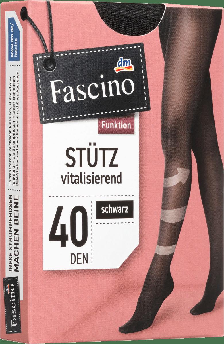 Fascino Stütz Strumpfhose 40 den, Gr. 42/44, schwarz, 1 St