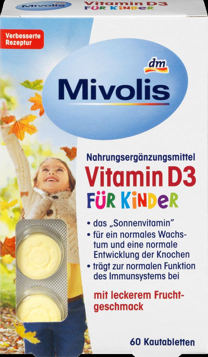 Vitamin D3 für Kinder, Kautabletten 60 St., 51 g