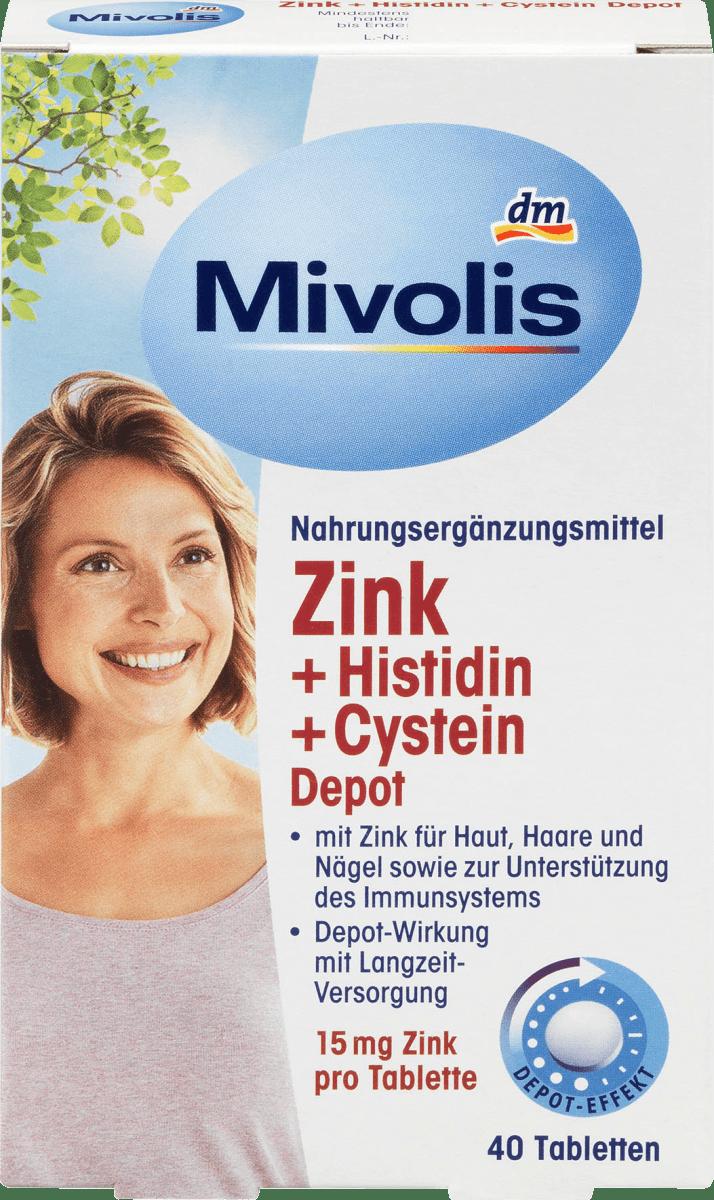Zink + Histidin + Cystein Depot, Tabletten 40 St., 19 g