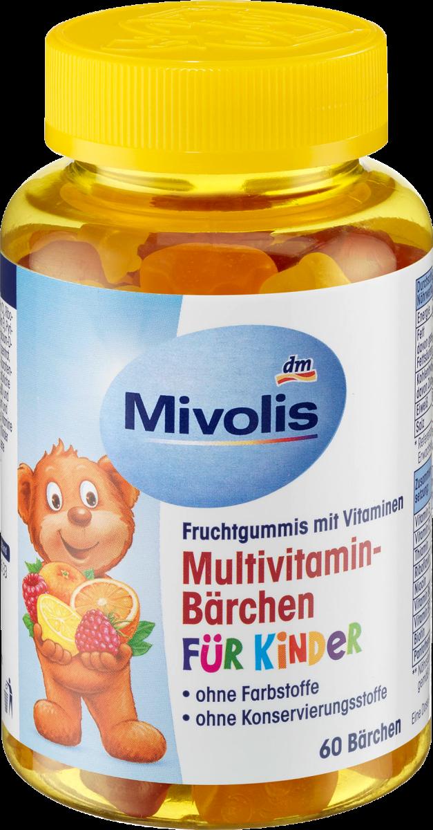 Multivitamin-Bärchen für Kinder, Fruchtgummis, 60 St., 120 g