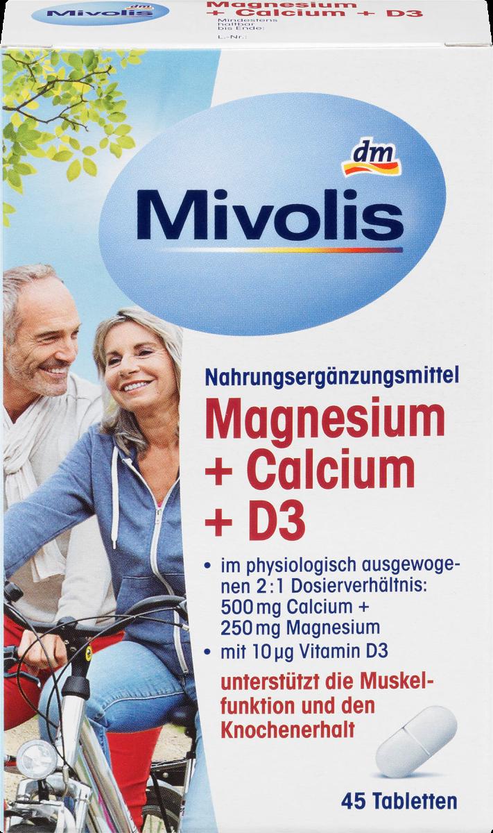 Magnesium + Calcium + D3, Tabletten 45 St., 95 g