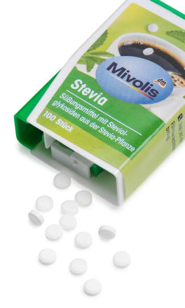 Mivolis Stevia Tabletten 100 St., 6 g dauerhaft günstig online kaufen | dm.de