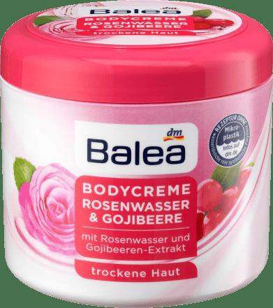 Balea tělový krém růžová voda & goji, 500 ml - dm.cz