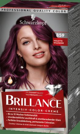 Haarfarbe lila rot