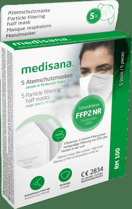 Medisana Atemschutzmaske FFP2 RM100, 5 St dauerhaft ...